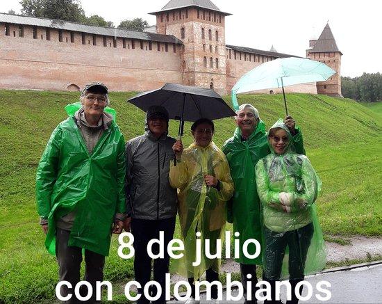 В дождливый день по Кремлю