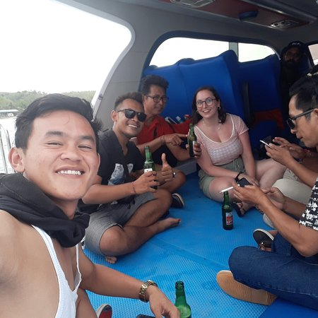 On the boat......On the way back guiding nusa penida island...