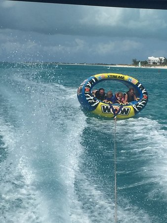 Tubing in the Turks and Caicos with Caicos tubing