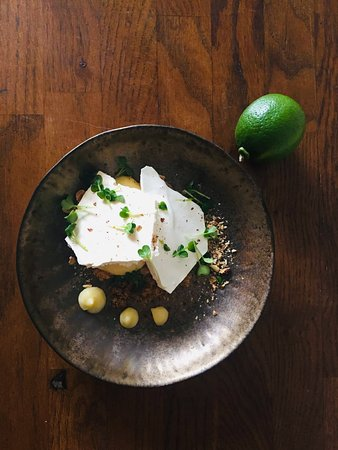 Tarte citron meringue estragon