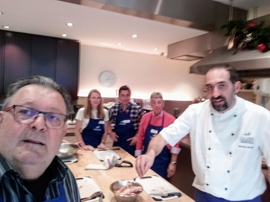 With my wife and two friends, I had a great day  at La Cucina Caldesi Market Day Course. We had a great time learning from Chef Stefano.