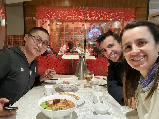 All-Inclusive Private 2-Day Beijing Highlight Tour with Optional Evening Show: Having a local lunch with Nico (tour guide) and David (Driver) in Bejing
