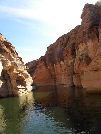 Motoring into a canyon