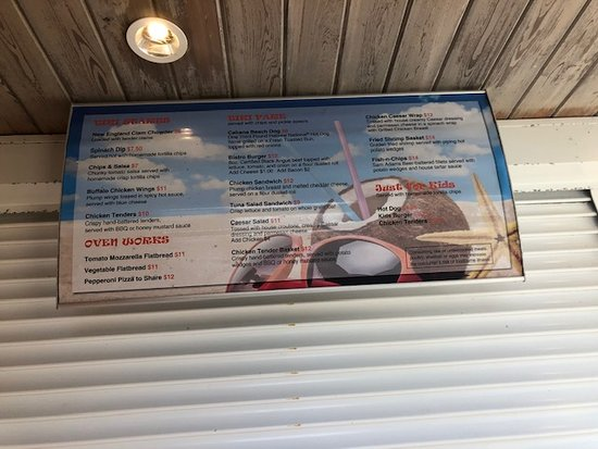 TIki Bar menu at the hotel.