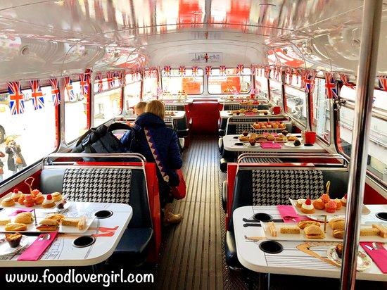 Brigit's Afternoon Tea Bus: Inside 