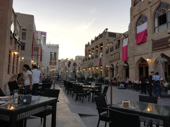 Outdoors in the heart of Souq Waqif