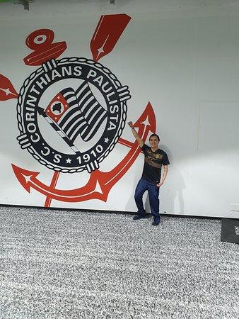 Casa do Povo: guided tour of Neo Química Arena: Sala de aquecimento dos jogadores do Corinthians.
