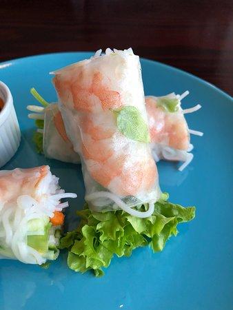 Prawn salad rolls