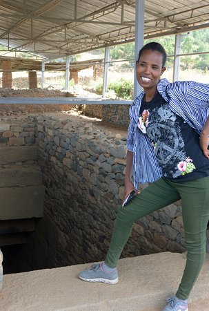 Wonderful Muna, my guide and biblical interpreter in Axum.