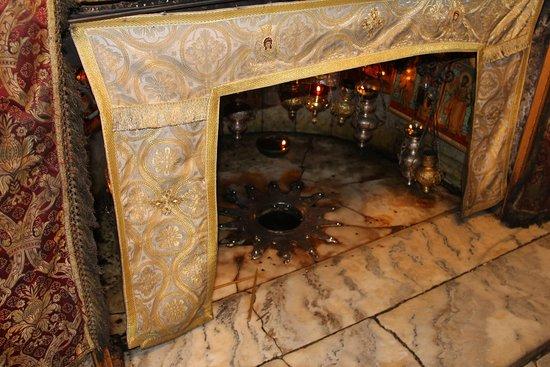 Вифлеем. Храм Рождества Христова. Вифлеемская Звезда - Место Рождества.