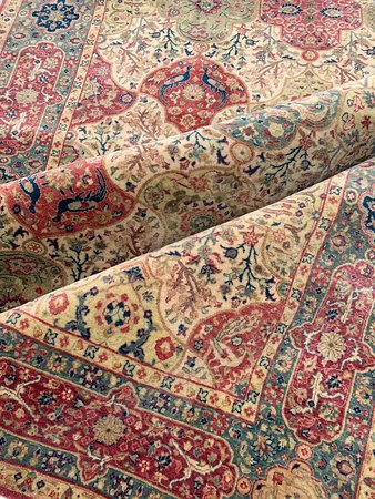 Recreations of carpets made in museums in the finest silk and wool also carpets available online .fast shipping worldwide