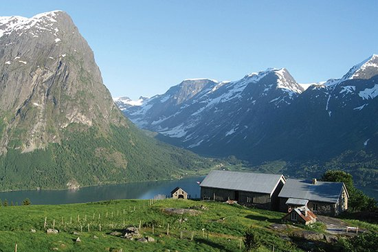 Hjelle, Norway: This idyllic village is beautifully located on the east side of Strainwatant Lake, a great base for hiking