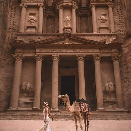 Petra is one of the Seven Wonders of the World, one of the best tourist destinations around the world .