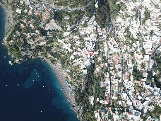 Positano view from  air