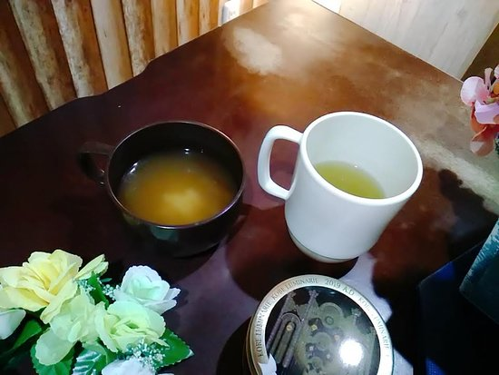 Free drinks(cold/hot) and miso soup