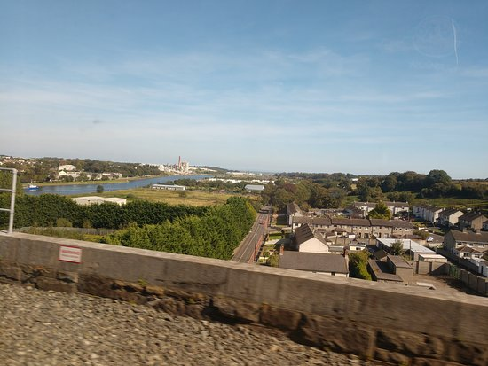 View of Bessbrook Northern Ireland from train