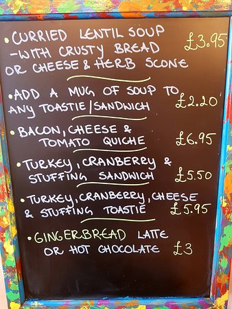 Sample of our specials board