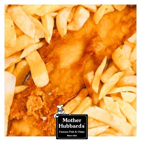 A close up of our fish and chips.