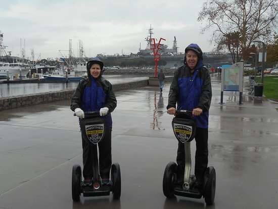 San Diego Early Bird Segway Tour: San Diego Harbor by Air Craft Carrier Midway.