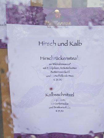 อันเดโลห์, เยอรมนี: Speisekarte Dez. 2019