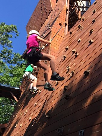 Our Climbing Walls range from 25ft to 147ft! With four walls to choose from beginners to professionals have something to challenge them!