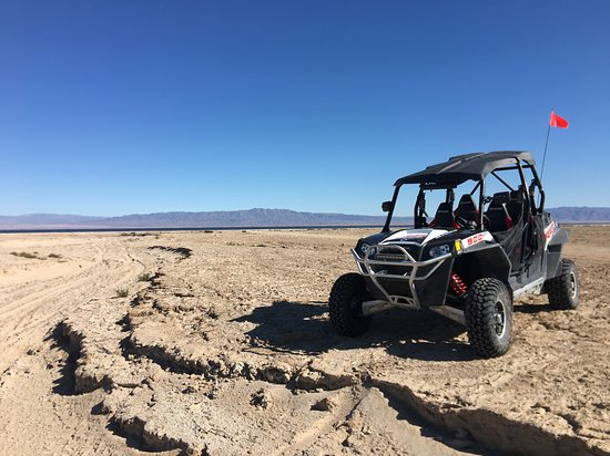 Desert and Mountain Views with our Poalris RZR, - Ocotillo Wells and Salton City has Thousands of Trails and Routes spread across more than 1 Million open areas of the biggest and best Open Desert Riding in California- And you ride right out of our  parking lot!