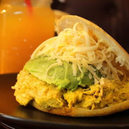 La Pituca, its shreeded chicken in a special Peruvian Huancaina scauce, topped with sliced avocado and dutch Gouda cheese. 100% recomended by the chef!