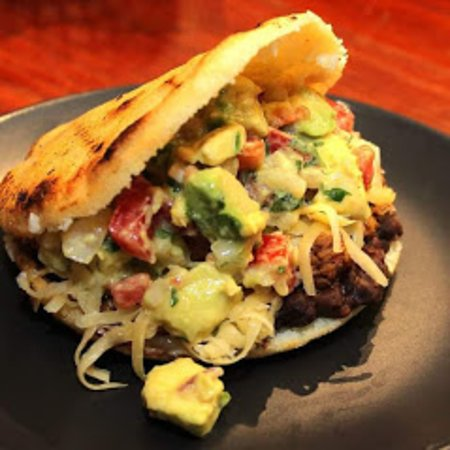 On Tuesdays we recommend you order an Arepa Taco!!!