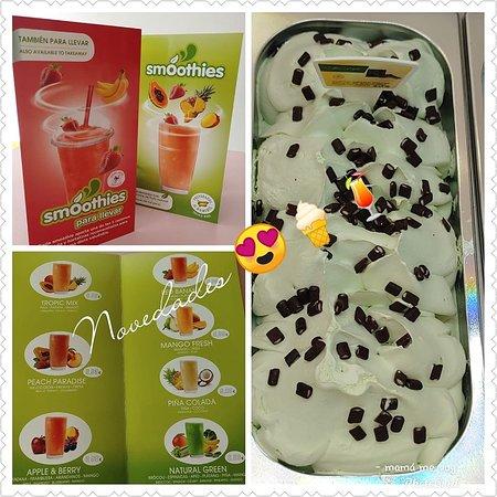 helados y smoothies con fruta