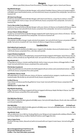 """Our Menu page 2 - """"It's Worth the Weight""""!"""