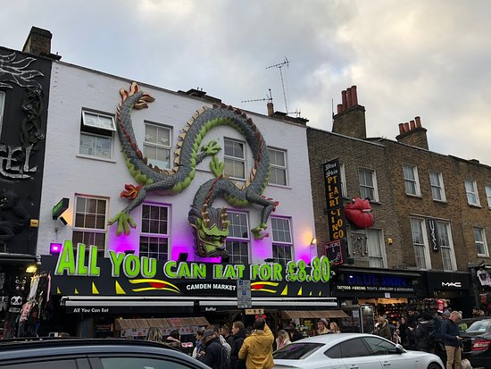 Camden town is very busy cause of the market. Personally it's not suitable for young children cause of the crowd and loud music.