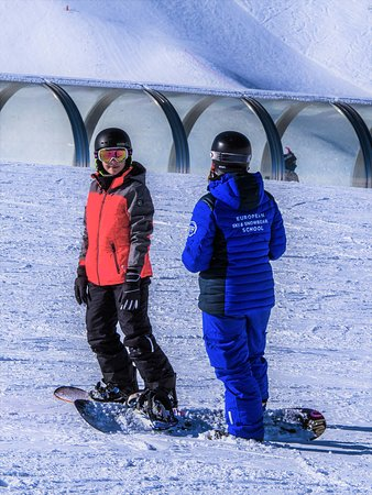 Snowboard beginner lesson