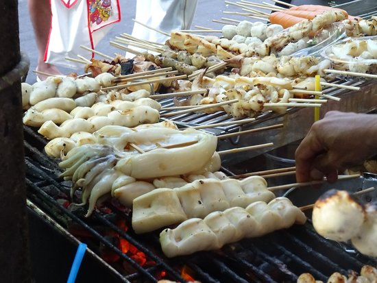 Some really yummy street food available here
