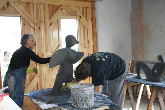 Ferrocement sculpture course, a five day course on site with accommodation and meals all inclusive.
