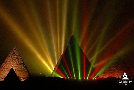 Geluids- en lichtshow bij de piramides: Sound and Light Show at the Pyramids