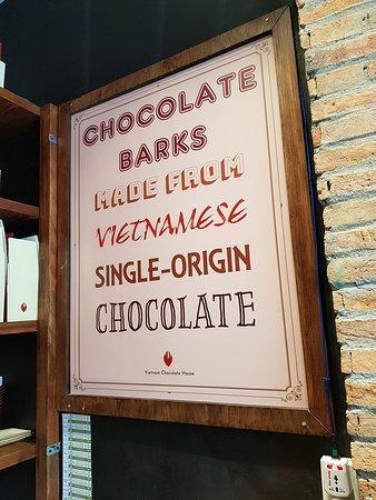 Chocolate barks sign.