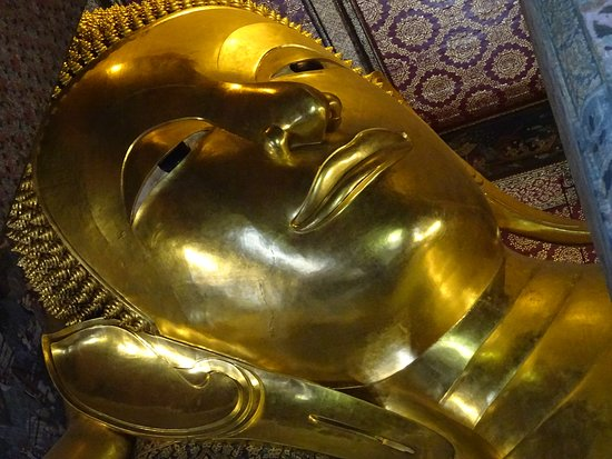 Face of the Reclining Buddha