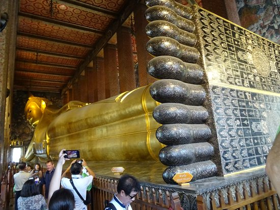 Inscription on the bottom of the feet of the Reclining Buddha.  This gives you just a taste of how massive this statue is