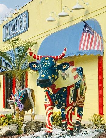 Imagine has 4 Cow Parade cows on exhibit.