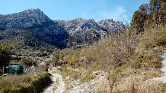 Vall de Gallinera, Spain: Vistas deesde Llomabia , valle de la gallinera