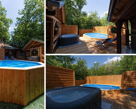 מחוז ואראז'דין, קרואטיה: Summer deck with the heated pool surrounded by the forest. Promising you an amazing view over the surrounding forest while soaking in the Sun from the pool loungers