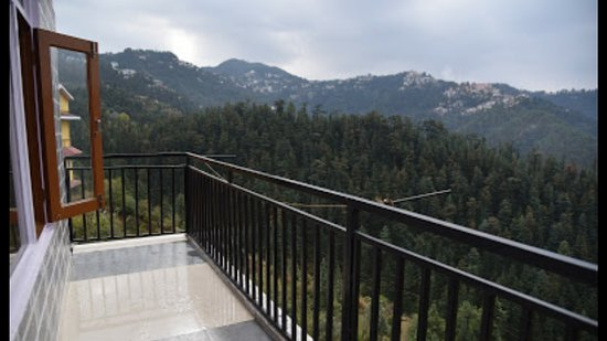 Ragyan, India: Delux family room with separate balcony surrounding by pine trees.