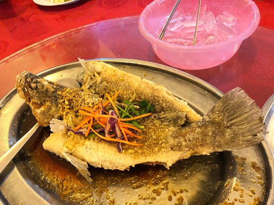 Fried fish w soya sauces