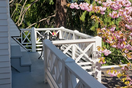 Spring Room Balcony, which has a view of the Strait of Juan de Fuca and Victoria, BC Canada