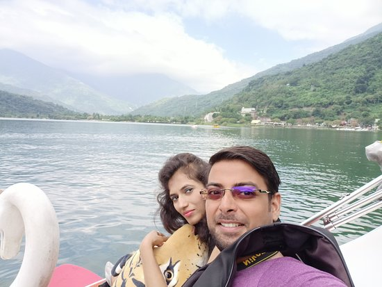 During boat ride
