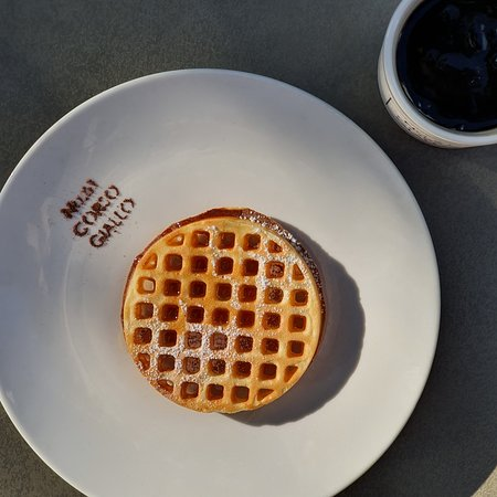 morning waffle and coffee