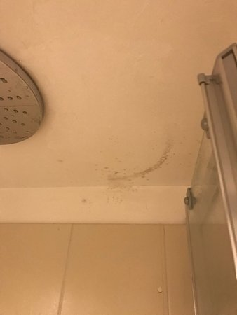 humidity stains.... and not easy to represent the extremely annoying low water pressure with a picture