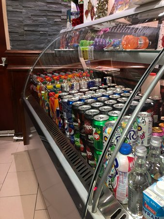 Large variety of cold drinks