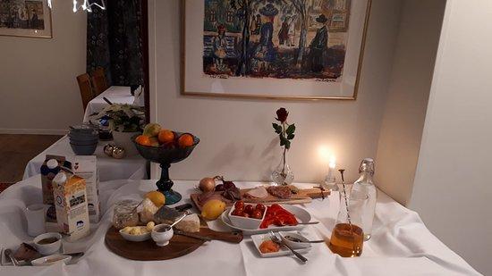 Immeln, Sverige: ontbijt