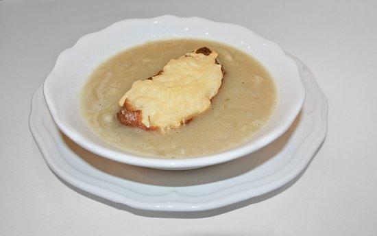 Cuisine Française - soupe aux oignons, Zwiebelsuppe